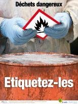 Déchets dangereux. Etiquetez-les