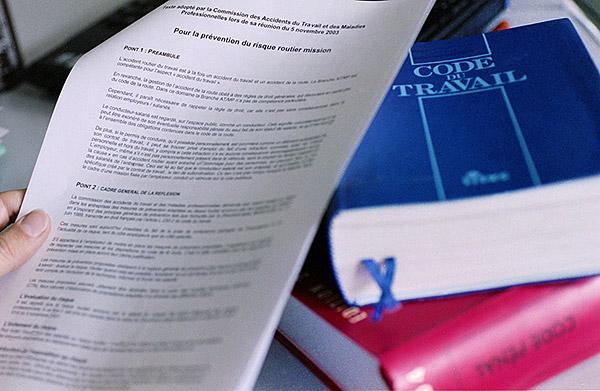 Documents fondateurs d'une démarche de prévention : politique générale de prévention, Code du travail…