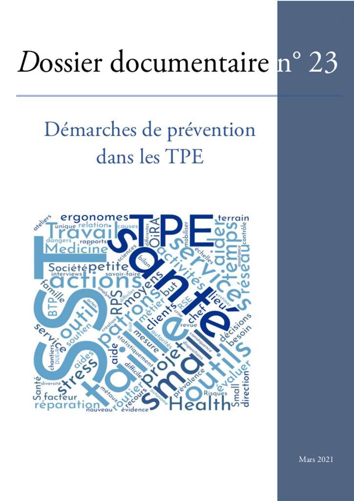 Démarches de prévention dans les TPE.. 23  